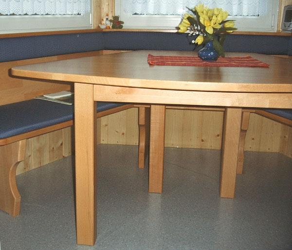 Einbaubank mit Tisch